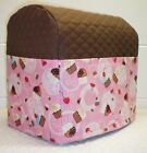 Chocolate Brown Quilted Pink Cupcake Kitchenaid 3.5qt Mini Stand Mixer Cover ***
