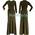 New $145 Polo Ralph Lauren Women Thermal Waffle Long Dress Olive S