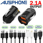 Rapid USB Car Charger 3.1A For IPhone X 8 7 + iPad pro Samsung S7 S8 S9 NOTE 8