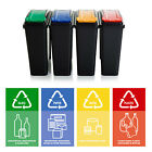 25L or 50 Litre Slim Bin Plastic Recycle Recycling Bin Lid Kitchen Rubbish