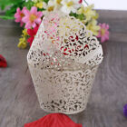 50pcs Laser Cut Cupcake Wrappers Cake Cup Wraps Wedding Birthday Party Supplies