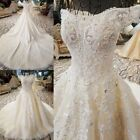 Wedding dress White/Ivory A-Line Off-Shoulder Wedding Dresses Deluxe Beaded