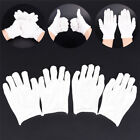 12Pairs White Inspection Cotton Lisle Work Gloves Coins Jewelry Lightweights Pip