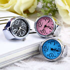 Lady Girl Creative Stainless Steel Round Elastic Quartz Finger Ring Watch Divine image