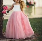 Princess Wedding Party Dress Prom Skirt Birthday Dresses for Baby Girl 1-8 Years