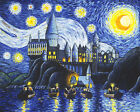 van gogh starry night original - Art Print Harry Potter Starry Night At Hogwarts Vincent Van Gogh By JPK Artwork