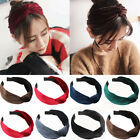 Womens Headband Twist Hairband  Knot Cross Velvet Headwrap Hair Band Bow Hoop