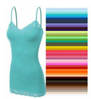 Внешний вид - Womens Tank Top Lace Cami Bozzolo Long Layering Spaghetti Strap S,M,L Free Ship