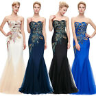 PLUS SIZE Mermaid Long Wedding Bridesmaid Ball Gown Evening Party Dress Maxi