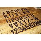 HOT! Cast Wrought Iron Black Antique House Door Alphabet Letters and Numbers