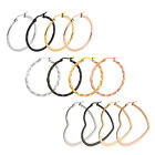 Hoop Earrings Stainless Steel Multiple Sizes and Colors Available - Single Set