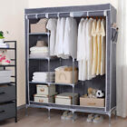 "50"" Large Portable Clothes Closet Canvas Wardrobe Storage Organizer with Shelves"