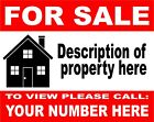 2 X PERSONALISED House Flat Property FOR SALE sign boards 4mm Correx FREE P&P