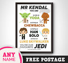 PERSONALISED Star Wars Print Gift Present TEACHER Thank you End Term Mr Picture £12.99 GBP on eBay