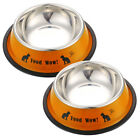 Dog Bowl Cat Bowl Mini Stainless Steel Anti skid Food Water Dishes Feeder Pet Fe