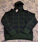 Polo Ralph Lauren Men's Green & Navy Plaid/Check Pullover Hoodie
