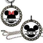 Personalized Your Name Mouse Head Bottle Cap Necklace & Chain Custom Any Name