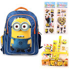"16"" Despicable Me Minions Large Backpack Boy Back to School Satchel Pencil Case"