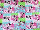 Disney MINNIE MOUSE pink patch : 100% cotton fabric by the 1/2 metre