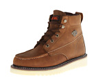 HARLEY DAVIDSON D93136 BEAU Mns M Tan Leather Motorcycle Boots