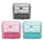 "18"" Dog Cage Pet Puppy Crate Cage Playpen Folding Metal Training Playpen w/ Tray"