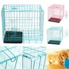 """28.5"""" Pet Crate  Folding Dog Cat Cage Steel Animal Kennel Playpen w/ Tray"""