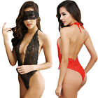 Sexy Women Lingerie Red Black Rose Lace lingerie Deep-v Neck