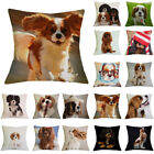Dog Pattern Linen Throw Pillow Case Sofa Bed Cushion Cover Home Decor Divine