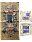 Vintage Indian Banjara Tapestry With Cushion Cover Patchwork Beaded Wall Hanging