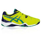 Asics Gel-Resolution 6 Mens Yellow Tennis Court Sports Shoes Trainers Pumps