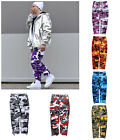 Mens Military Camouflage Cargo Pants Street Fashion Camo Tactical Pants Trousers