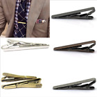 Men's Gentleman Silver Tone Tie Bar Clip Stainless Steel Plain Solid Clasp Pins