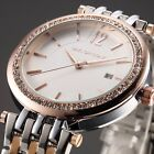 Taylor Cole Women Date Display Crystal Stainless Steel Strap Quartz Wrist Watch