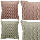 "Chenille Waves Luxury Heavy Plain Cushions and Covers, 17"" x 17"" (43 x 43cm)"