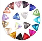 100PCS/60Pcs Mixed Colors Pointed Triangle Fancy Glass Stones (Various Sizes)