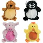 Soft Plush Squeaky Chubby Animal Pet Chew Toy Dog Cat Puppy Play Fetch Training