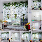 Floral Tulle Voile Door Window Curtain Drape Panel Sheer Scarf Valances Curtain