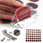 48pcs Bike Tire Bicycle Kit Patches Repair Glue Tyre Tube Rubber Puncture &Lever