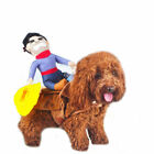 Fancy Pet Small Large Dog Cute Costumes Riding Cowboy Knight Coat Clothes