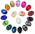 Hot 100PCS/40Pcs  Mixed Colors Pointed OVAL Fancy Glass Stones (Various Sizes)