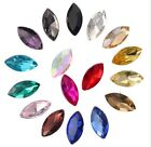 100PCS/40Pcs Mixed Colors Pointed MARQUISE Fancy Glass Stones (Various Sizes)
