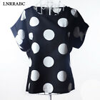 Women Fashion Chiffon Short Sleeve Loose Casual T-shirt Tops Shirt Blouse Summer