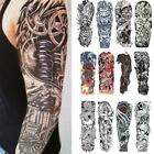 Waterproof Men Temporary Tattoo Large Arm Body Art Tattoos Long Last Sticker $1.35 USD on eBay
