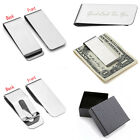 Men's Personalised Text Engraved Steel Wallet Credit Card Clasp Cash Money Clip