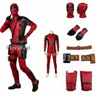 Costume Deadpool Superhero Cosplay Red Jumpsuit Movie Outfit