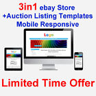eBay Store Old Shop Design+2 Auction Listing Templates Mobile Responsive HTML