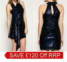 New KAREN MILLEN BNWT £199 LTD EDT Sequin Cocktail Evening Party Prom Dress SALE