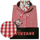 Warrior UK England Button Down Shirt FITZ Slim-Fit Skinhead Mod Retro