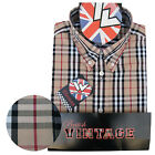Warrior UK England Button Down Shirt MOTOWN Slim-Fit Skinhead Mod Retro