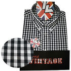Warrior UK England Button Down Shirt KENNEDY Slim-Fit Skinhead Mod Retro 2XL